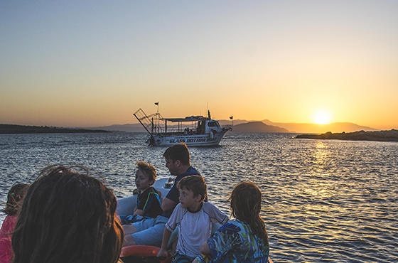 Sunset Boat Trip in Crete