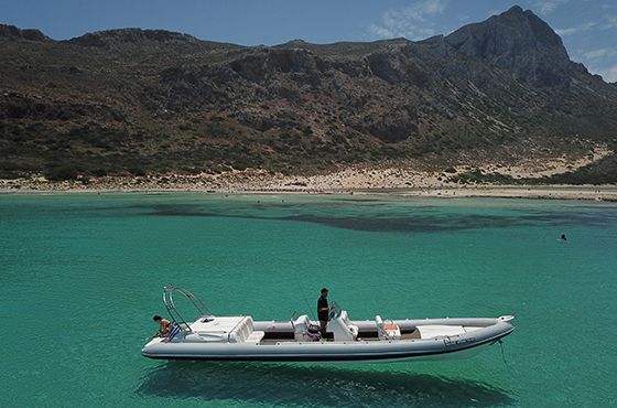 rent a boat to visit Balos