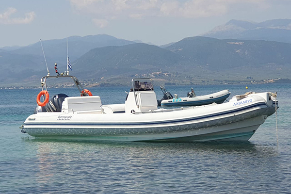 Achileas RIB boat, boat trips to Chrissi from Iepapetra, Crete